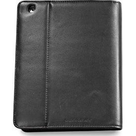 Monogrammed Brookstone Leather iPad Stand