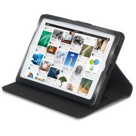 Customized Brookstone Leather iPad Stand with Sleeve