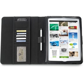 Brookstone Leather iPad Stand with Sleeve for Promotion