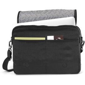 "Brookstone Slim 13"" Computer Messenger Bag for Customization"