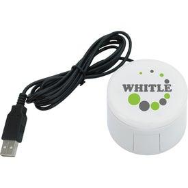 Circular USB Hub Imprinted with Your Logo