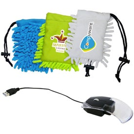 Clear Mouse with Frizzy Bag