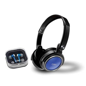 Coby 2 in 1 Combo Deep Bass Stereo Headphone