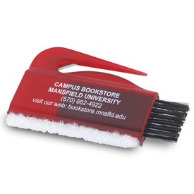 Computer Brush, Sweeper Letter Opener Combo Imprinted with Your Logo