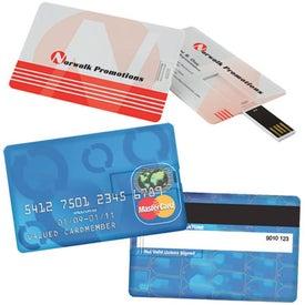 Credit Card Size USB Flash Drive (4GB)