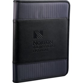 Branded Cutter & Buck Pacific Series Zippered Padfolio