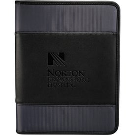 Imprinted Cutter & Buck Pacific Series Zippered Padfolio