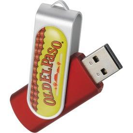 Custom Domeable Rotate Flash Drive