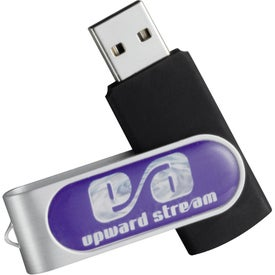 Domeable Rotate Flash Drive Imprinted with Your Logo