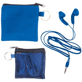 Custom Ear Buds in Zip Pouch