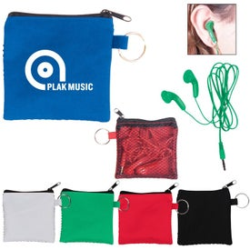 Ear Buds in Zip Pouches