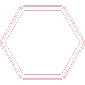"Fabric Surface Hexagon Mouse Pad (1/4"")"