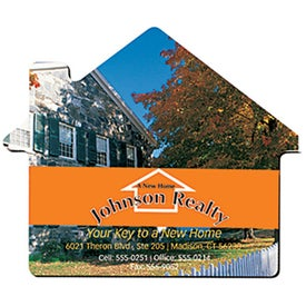 "Fabric Surface House Mouse Pad (1/4"")"