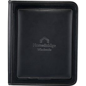 Customized Flip Leather Portfolio For iPad