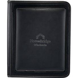 Customized Flip Leather Portfolio For iPad