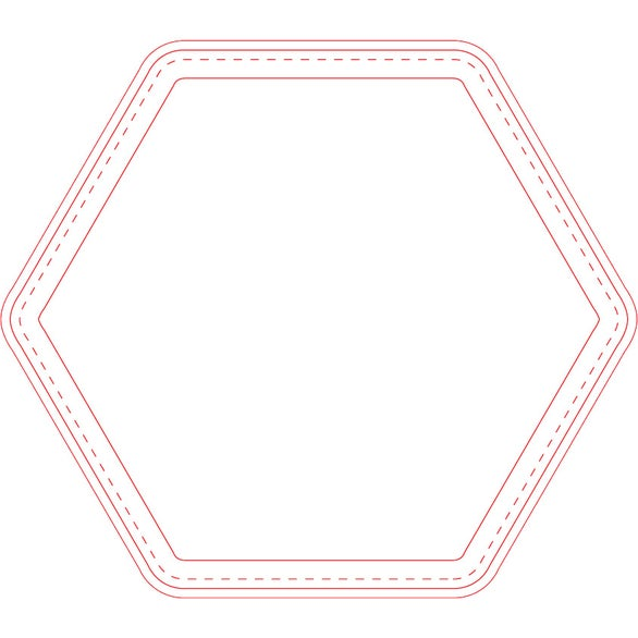Fabric Surface Hexagon Mouse Pad