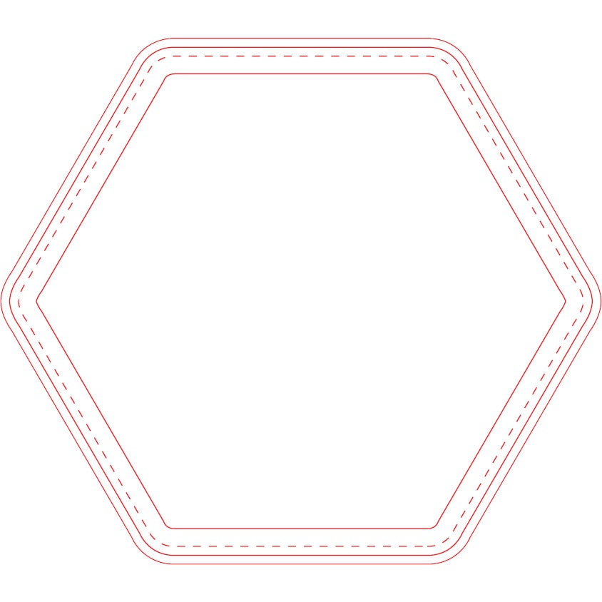 "Fabric Surface Hexagon Mouse Pad (1/16"")"