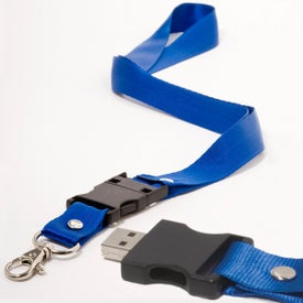Customized Lanyard USB Memory Drive 2.0 - 1GB