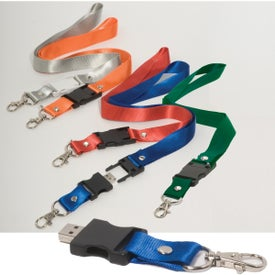 Lanyard USB Memory Drive 2.0 - 2GB with Your Slogan