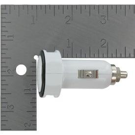 Branded LED USB Car Charger
