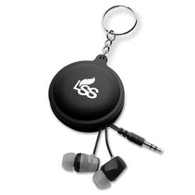 Branded Macaroon Cord Winder with Earbud