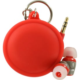 Macaroon Cord Winder with Earbud for Promotion