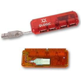 Mini USB 4-Port Hub 2.0 for Promotion