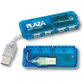 Personalized Mini USB 4-Port Hub 2.0