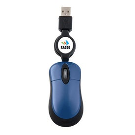 Mini Optical Mouse with Retractable Cord