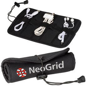 Printed Neoprene Roll Up Tech Case