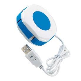 Personalized Orb Twist 4 Port USB 2.0 Hub