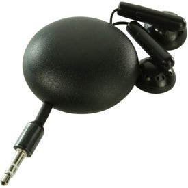 Retractable Earbud Pod with Your Slogan