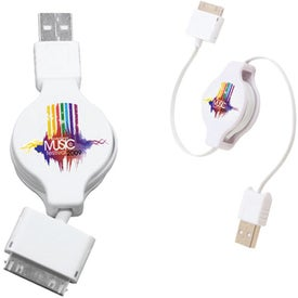 Retractable USB-30 Pin Adapter Branded with Your Logo