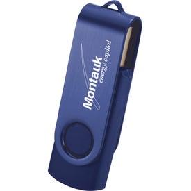 Imprinted Rotate 2Tone USB Flash Drive