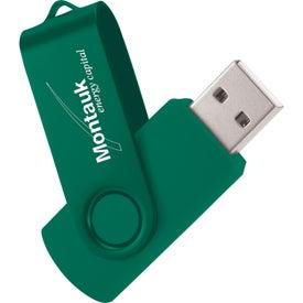 Branded Rotate 2Tone USB Flash Drive