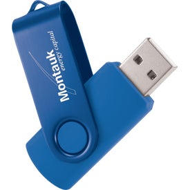 Rotate 2Tone USB Flash Drive Imprinted with Your Logo
