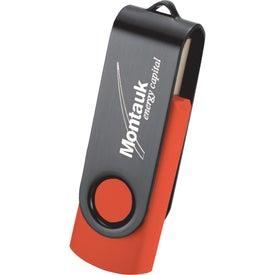 Personalized Rotate Black Clip Flash Drive