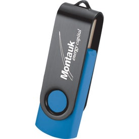 Rotate Black Clip Flash Drive for Your Organization