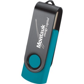 Rotate Black Clip Flash Drive Printed with Your Logo