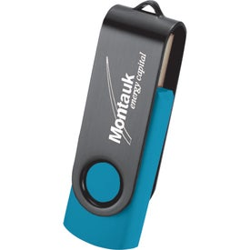 Rotate Black Clip Flash Drive for Promotion