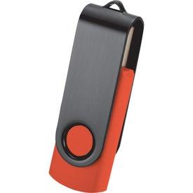 Customized Rotate Black Clip Flash Drive