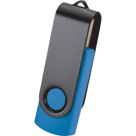 Monogrammed Rotate Black Clip Flash Drive