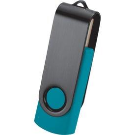 Rotate Black Clip Flash Drive for Customization
