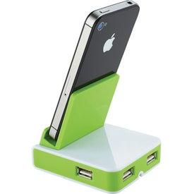 Customized Rotate Mobile Phone Holder and USB Hub