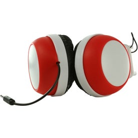 Imprinted Silly Ears Silicone Stereo Headphones