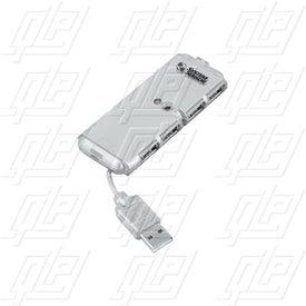 Silver USB 4-Port Hub