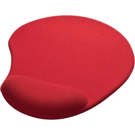 Imprinted Solid Jersey Gel Mouse Pad/Wrist Rest