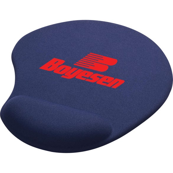 Blue Solid Jersey Gel Mouse Pad/Wrist Rest
