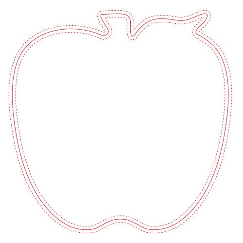 "Fabric Surface Apple Mouse Pad (1/16"")"