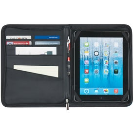 Imprinted Tablet Case with Zipper Pocket